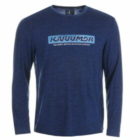 Karrimor Merino Long Sleeve Walking Top Mens - Navy/Blue