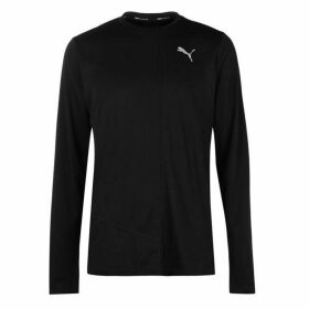 Puma Ignite Long Sleeve T Shirt Mens - Black