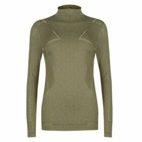 Puma Evo Knit Long Sleeve Top Ladies - Olive