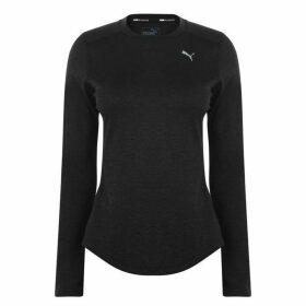 Puma Ignite Long Sleeve T Shirt Ladies - Black