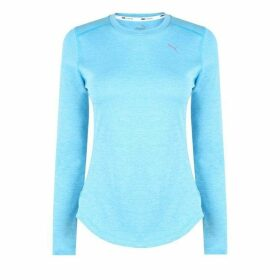 Puma Ignite Long Sleeve T Shirt Ladies - Sky Blue