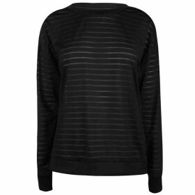 Reebok Mesh Long Sleeve T Shirt - Black