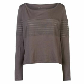 Reebok Mesh Long Sleeve Top Ladies - Almost Grey