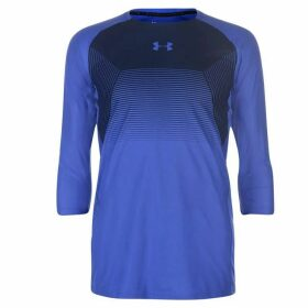 Under Armour Threadborne Vanish Three Quarter Sleeve Top Mens - Blue