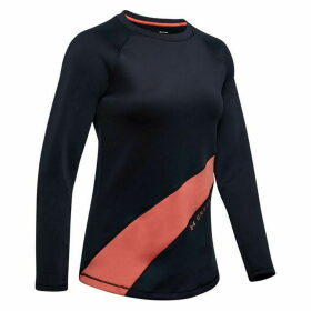 Under Armour CoolGear Long Sleeve Graphic T Shirt Ladies - Black/Pink