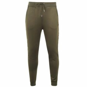 Alpha Industries Track Tape Jogging Bottoms - Dark Olive 142