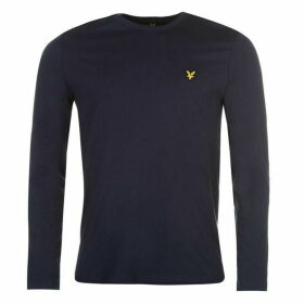 Lyle and Scott Long Sleeve Logo Tee - Blue