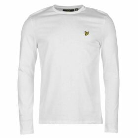 Lyle and Scott Long Sleeve Logo Tee - White