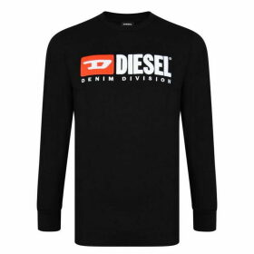 Diesel Jeans Division Long Sleeve T Shirt - Black