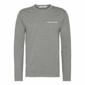 Calvin Klein Jeans Institutional Back Logo T Shirt - Grey Heather