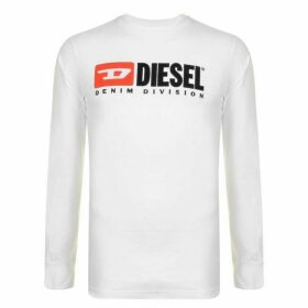 Diesel Jeans Division Long Sleeve T Shirt - White