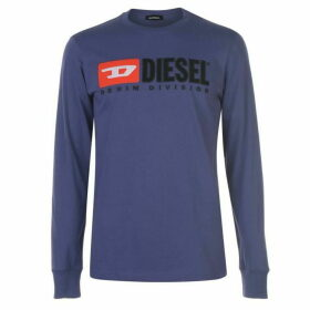 Diesel Jeans Division Long Sleeve T Shirt - Purple