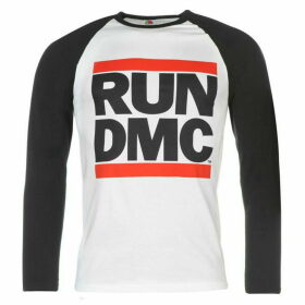 Official Run DMC Raglan Long Sleeve T Shirt Mens - White