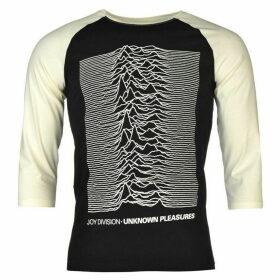 Official Joy Division Raglan T Shirt Mens - Unknown Pleasur