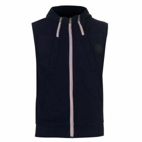 883 Police Fang Sleeveless Hoodie - Blue