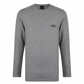 BOSS BODYWEAR Long Sleeve Logo T Shirt - Grey