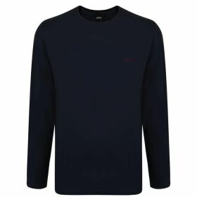 BOSS BODYWEAR Long Sleeve Logo T Shirt - Navy 403