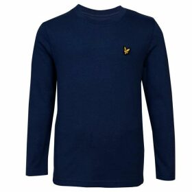 Lyle and Scott Classic Long Sleeve T Shirt - Navy Blazer