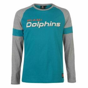 NFL Long Sleeve Raglan T Shirt - Miami Dolphins