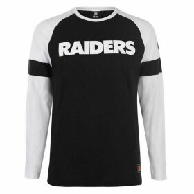 NFL Long Sleeve Raglan T Shirt - Oakland Raiders