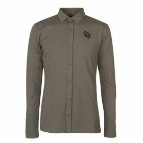 Fabric Embroidered Shirt - Grey
