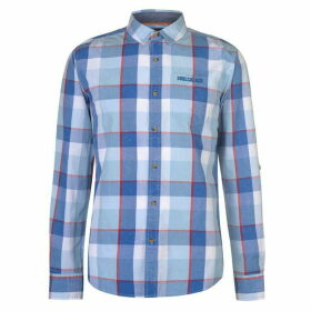 SoulCal Long Sleeve Check Shirt Mens - Blue/White/Red