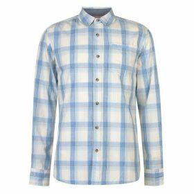 SoulCal Long Sleeve Check Shirt Mens - Cream/Sky/Blue