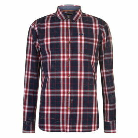 SoulCal Long Sleeve Check Shirt Mens - Navy/Red/White
