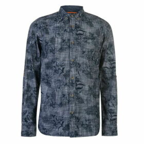 SoulCal Long Sleeve AOP Shirt Mens - Navy