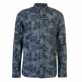 SoulCal Long Sleeve AOP Shirt Mens - Blue