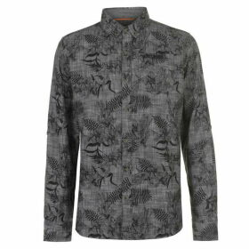 SoulCal Long Sleeve AOP Shirt Mens - Charcoal