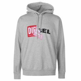 Diesel Logo Hooded Sweatshirt - Grey 912