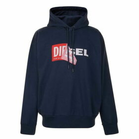 Diesel Jeans Logo Hooded Sweatshirt - Navy