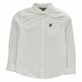 Lyle and Scott Long Sleeve Oxford Shirt - White