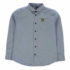 Lyle and Scott Long Sleeve Oxford Shirt - Blue
