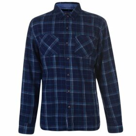 SoulCal Flannel Shirt Mens - Navy/Grey/Turq