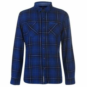 SoulCal Flannel Shirt Mens - Navy/Grey/White