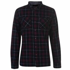 SoulCal Flannel Shirt Mens - Black/Wht/Red