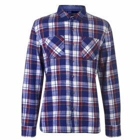 SoulCal Flannel Shirt Mens - Royal/Red/White