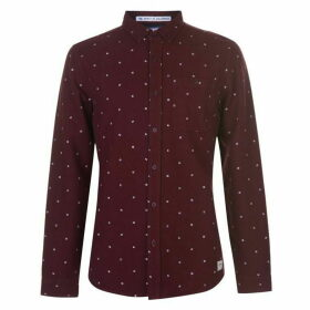 SoulCal Deluxe AOP Oxford Shirt - Burgundy