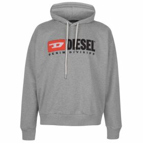 Diesel Jeans Basic Logo Hooded Sweatshirt - Grey