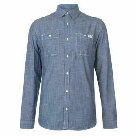 Jack and Jones Core Chicago Long Sleeve Shirt - Chambray Blue