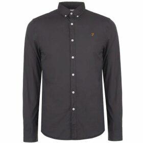 Farah Vintage Farah Farley Slim Fit Shirt - Navy 412