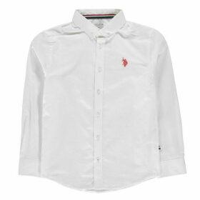US Polo Assn US Long Sleeve Oxford Shirt - Bright White