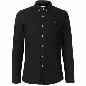 Farah Vintage Farah Brewer Oxford Long Sleeve Shirt Mens - Black