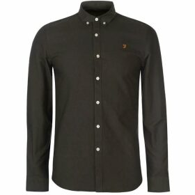 Farah Vintage Farah Brewer Oxford Long Sleeve Shirt Mens - Dark Green
