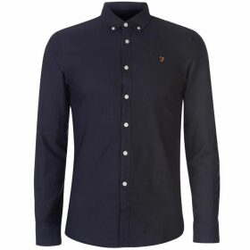 Farah Vintage Farah Brewer Oxford Long Sleeve Shirt Mens - Navy