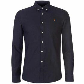 Farah Vintage Farah Brewer Oxford Long Sleeve Shirt Mens - Navy