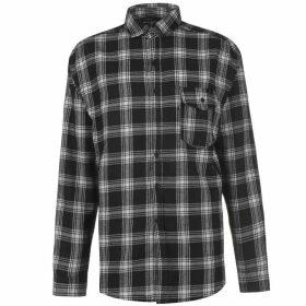 Good For Nothing Oversized Check Shirt Mens - White