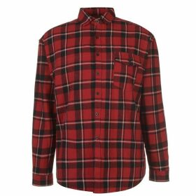 Good For Nothing Oversized Check Shirt Mens - Red